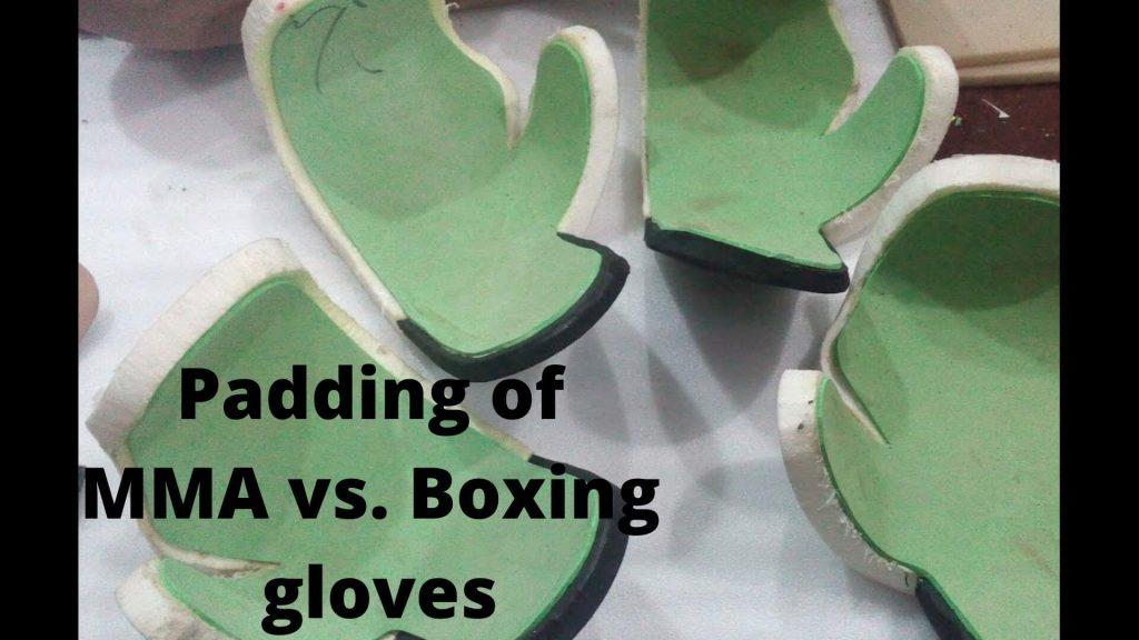 Padding of MMA vs. Boxing glove